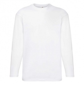 F07•Valueweight Long Sleeve T, white, S